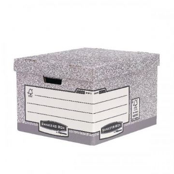 Bankers Box Heavy Duty Large Storage Box<br>Size: 380x430x287mm<br>Pack of 10